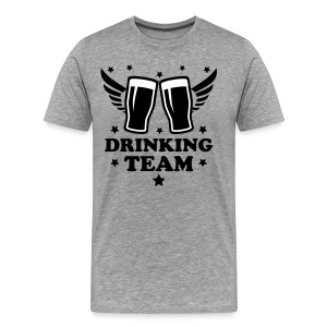 Drinking team Alcohol Beer drunk cool 2c Design men's T-Shirt Tee - Men's Premium T-Shirt