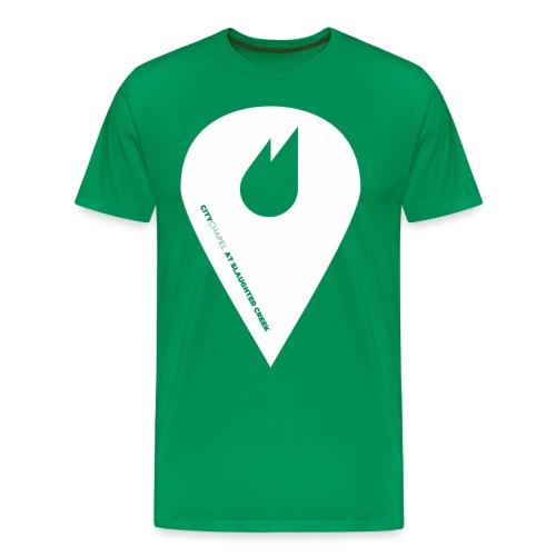 City Chapel Icon WHITE - Men's Premium T-Shirt