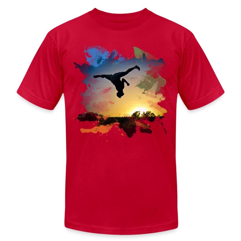 Flash Kick Splatter - Men's Fine Jersey T-Shirt