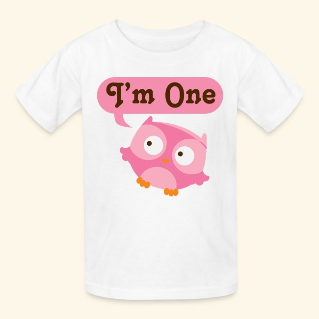 1st Birthday Baby T Shirt Girl Owl