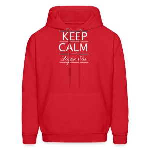 Keep Calm and Vape On - Wht Logo - Men's Hoodie
