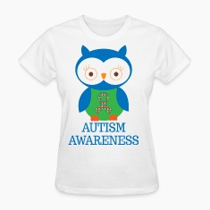 Autism Awareness Owl Women's T-Shirts