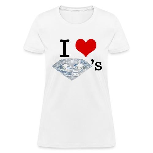 I Heart Diamond's - Women's T-Shirt
