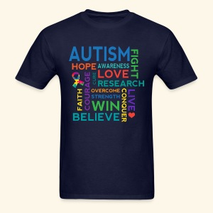 Autism Hope Cure Love Mens T-shirt - Men's T-Shirt