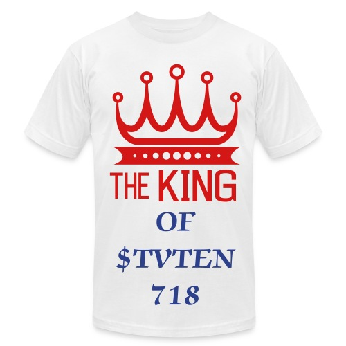 KING OF STATEN - Men's Fine Jersey T-Shirt