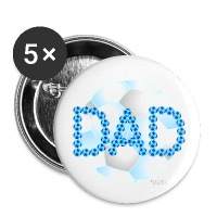 Soccer Dad Blue - Large Buttons
