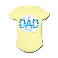 Soccer Dad Blue - Short Sleeve Baby Bodysuit