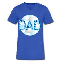 Soccer Dad Blue - Men's V-Neck T-Shirt by Canvas