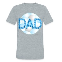 Soccer Dad Blue - Unisex Tri-Blend T-Shirt by American Apparel
