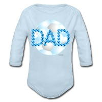 Soccer Dad Blue - Long Sleeve Baby Bodysuit