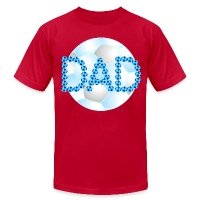 Soccer Dad Blue - Men's T-Shirt by American Apparel