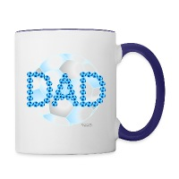 Soccer Dad Blue - Contrast Coffee Mug