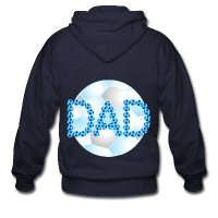 Soccer Dad Blue - Men's Zip Hoodie