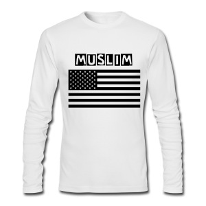 Muslim American T Shirt (Long Sleeve) Male - Men's Long Sleeve T-Shirt by Next Level