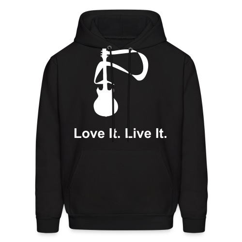 Live It Love It Guitar SweatShirt - Men's Hoodie