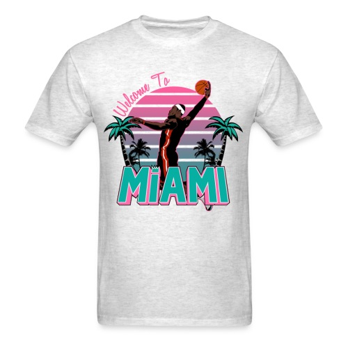 Welcome to Miami Gray South Beach Shirt - Men's T-Shirt