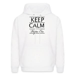 Keep Calm and Vape On - Blk Logo - Men's Hoodie