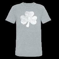 T-Shirts ~ Unisex Tri-Blend T-Shirt ~ Distressed Irish Shamrock