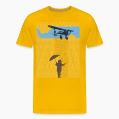 Girl in Plane Rain T-Shirts