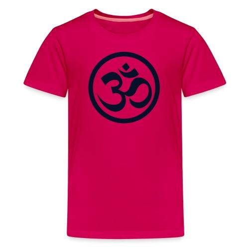 YOGINI  w/back design w/Black Glitter - Kids' Premium T-Shirt