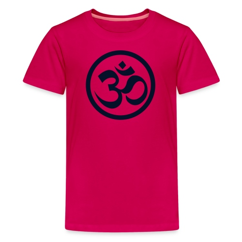 YOGINI  w/back design w/Black Glitter - Kids' Premium T-Shirt