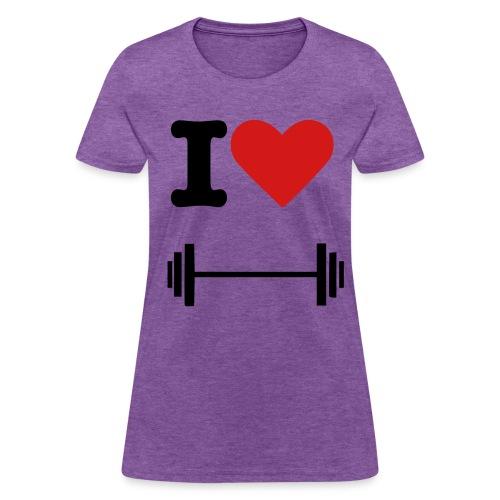 Womens I Heart Barbell - Women's T-Shirt
