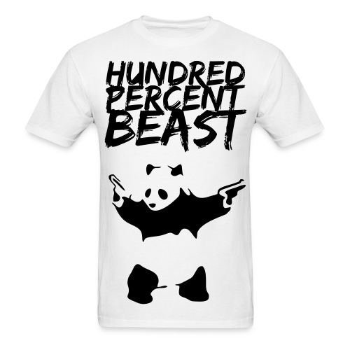 Hundred Percent Beast Panda - Men's T-Shirt