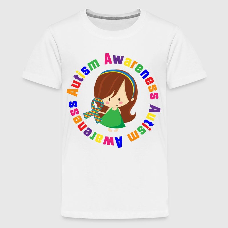 Autism Awareness Girl Kids' Shirts - Kids' Premium T-Shirt