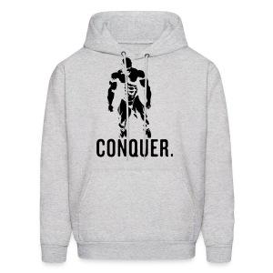 Conquer Hoodie (GREY) - Men's Hoodie