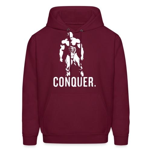 Conquer Hoodie (BURGUNDY) - Men's Hoodie