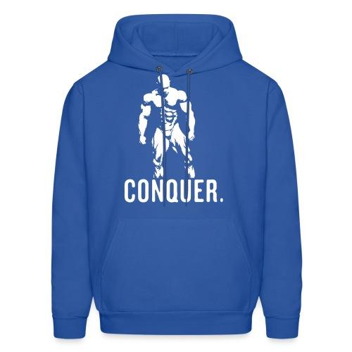 Conquer Hoodie (Blue) - Men's Hoodie