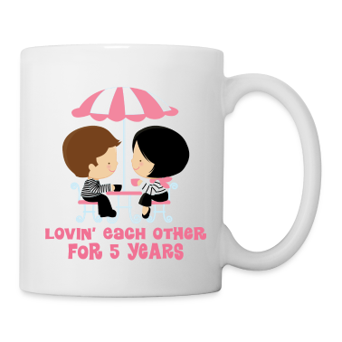 5th Anniversary French Couple Bottles & Mugs