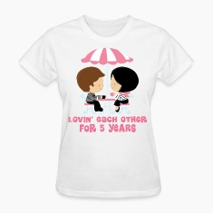5th Anniversary French Couple Women's T-Shirts
