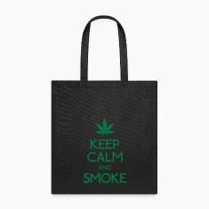 keep calm and smoke Bags & backpacks