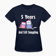5 Year Anniversary Owl Couple Women's T-Shirts