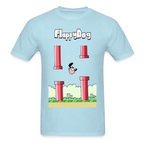 Flappy Dog - Men's T-Shirt