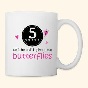 5th Anniversary Matching Gift Mugs Butterflies - Coffee/Tea Mug