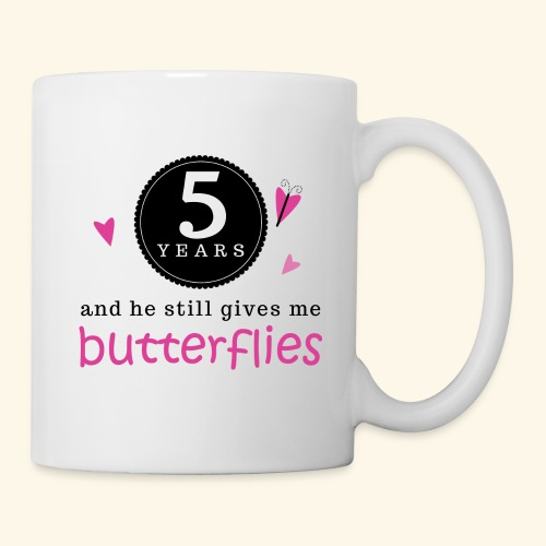 5th Anniversary Matching Gift Mugs Butterflies - Coffee/Tea Mug