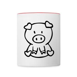 Piggy Mug - Contrast Coffee Mug