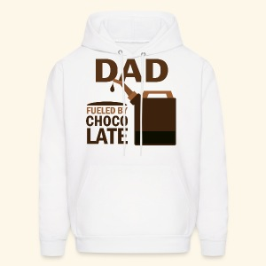 Dad Father's Day Hoodie fueled by chocolate - Men's Hoodie