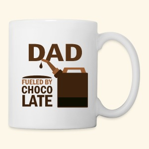 Funny Dad Fueled By Chocolate Father's Day Mug - Coffee/Tea Mug
