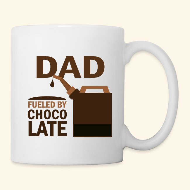 homewise shopper funny dad fueled by chocolate fathers day mug