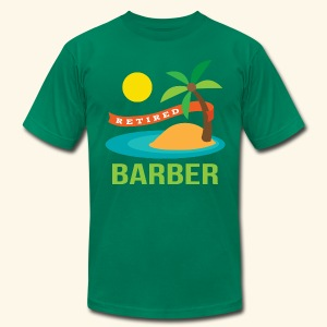 Retired Barber Mens T-shirt - Men's T-Shirt by American Apparel