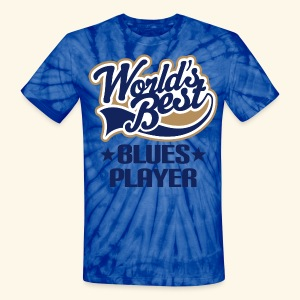 Blues Player Mens Tie Dye T-shirt world's best - Unisex Tie Dye T-Shirt