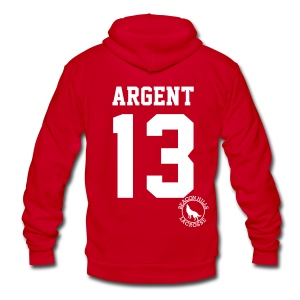 ARGENT 13 - Zip-up (S Logo) - Unisex Fleece Zip Hoodie by American Apparel