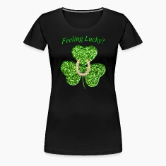Funny Glitter Shamrock And Horseshoe Shirt