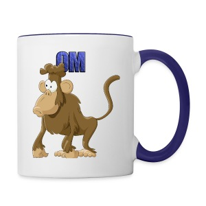 Monkey with OM Coffee Mug - Contrast Coffee Mug