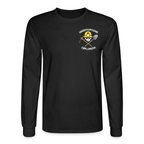 Underground Explorers Black Long Sleeve Logo Tee - Men's Long Sleeve T-Shirt