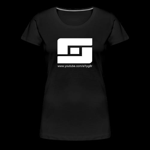 Women's Sl1pg8r Logo White - Women's Premium T-Shirt