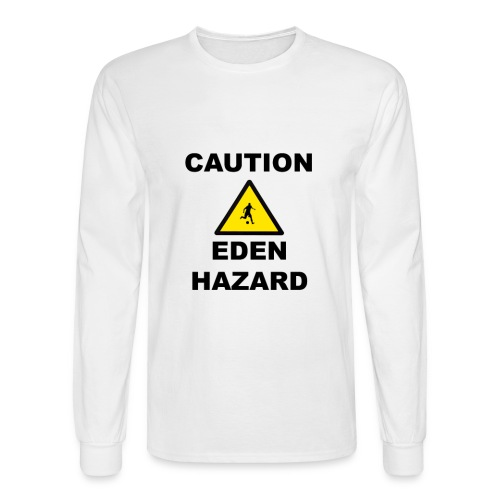 Caution, Eden Hazard - Long Sleeve - T-Shirt - Men's Long Sleeve T-Shirt